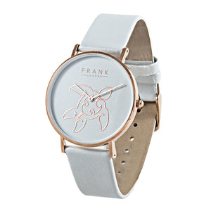 Frank - Sea Horse - White - Rose Gold
