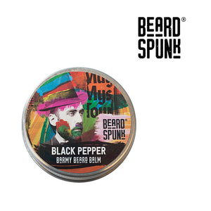 Beard Spunk ® BLACK PEPPER Barmy Beard Balm 30ml. Beard Spunk Beard Oil & Moustache Grooming Kits
