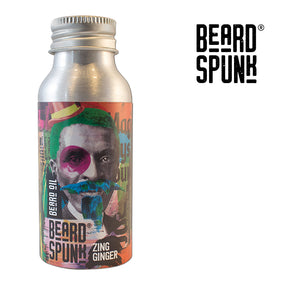 Beard Spunk ® SPECIAL EDITION ZING GINGER Premium Beard & Moustache Oil 50ml. Beard Spunk Beard Oil & Moustache Grooming Kits