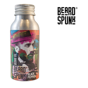 Beard Spunk ® SPECIAL EDITION BLACK PEPPER Premium Beard & Moustache Oil 50ml. Beard Spunk Beard Oil & Moustache Grooming Kits