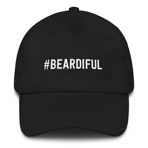 #Beardiful Large Unisex Logo Cap - Adjustable Strap & Curved Visor. Beard Spunk Beard Oil & Moustache Grooming Kits