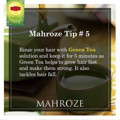 What are the benefits of green tea for hair?