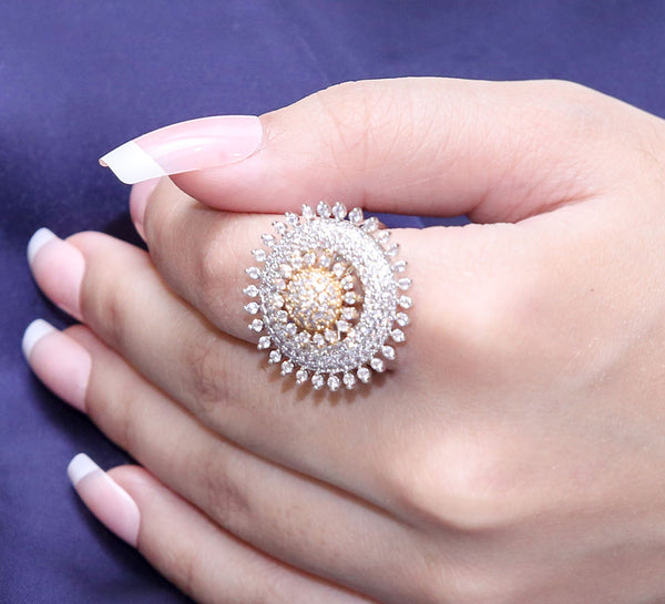 Silver Pave Ring