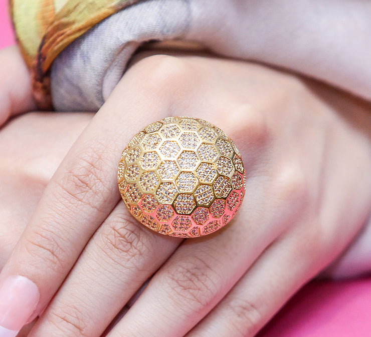 Golden Doom Cocktail Ring