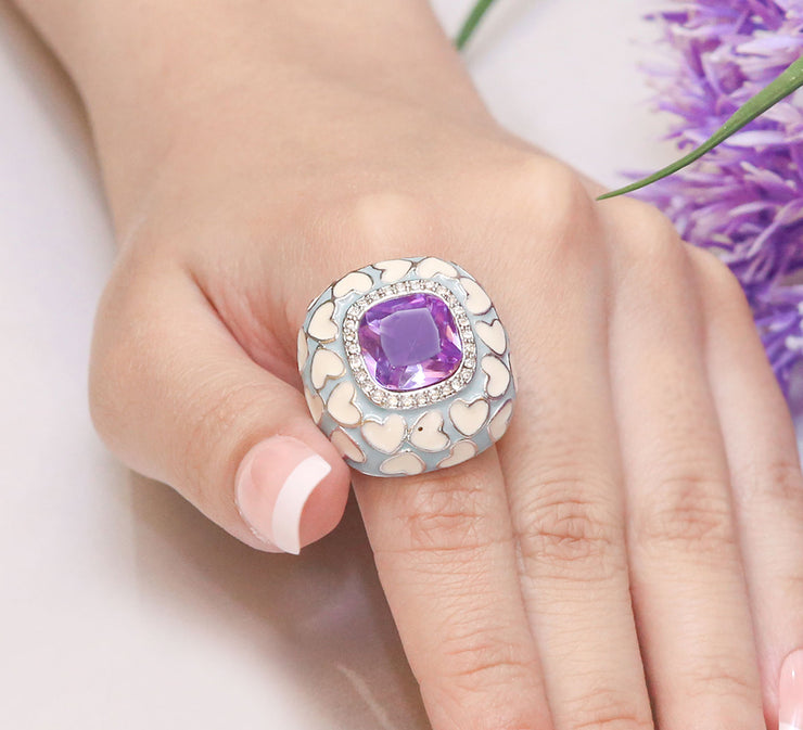 Shiny Purple Stone Ring