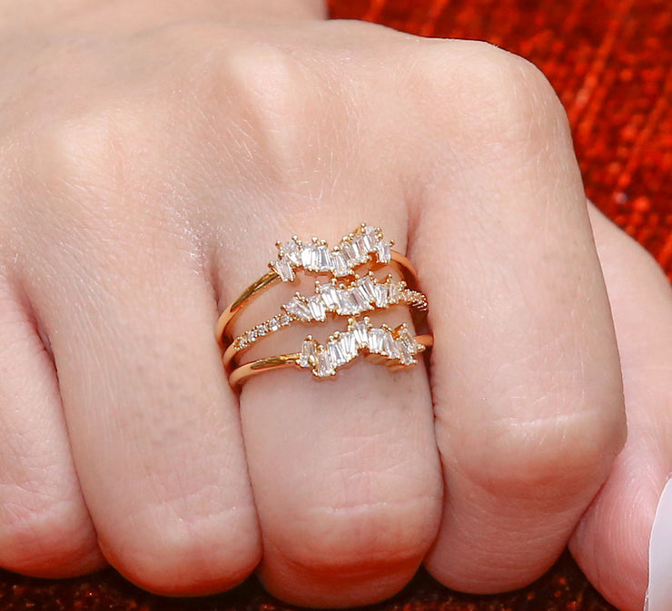 Golden Pave Ring