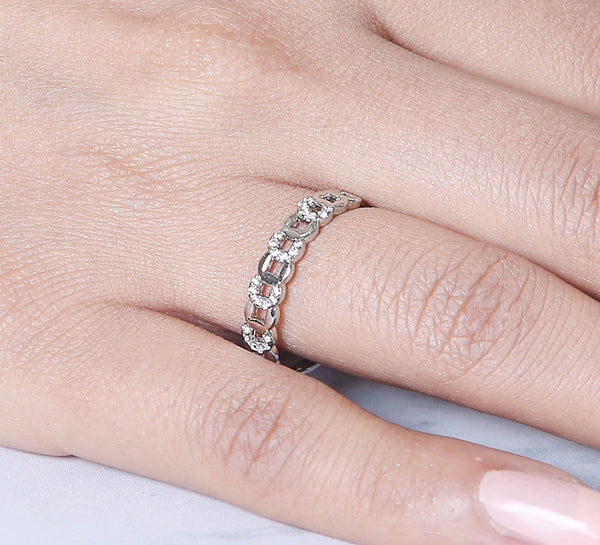 Chained Sterling Silver Ring