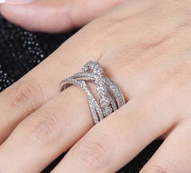 Swrilled Criss Cross Ring
