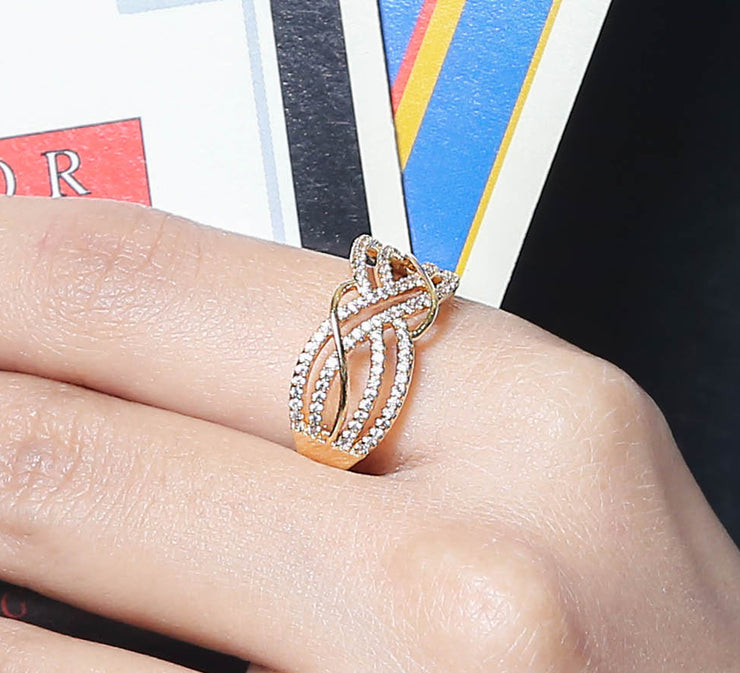 Golden Waves Ring