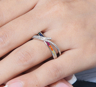Multi Criss Cross Ring