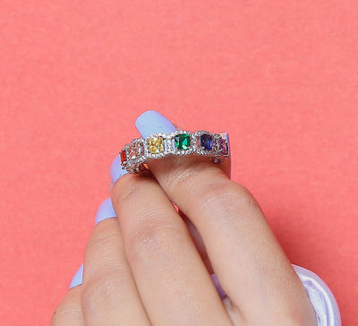 Multi Paved Zirconia Ring