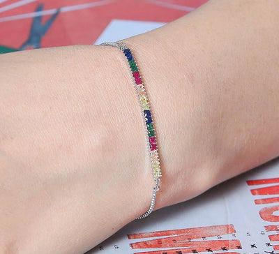 Keep It Simple Tennis and Soft Bracelet – Silver