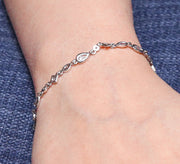 Silver Eye-Drop Tennis & Soft Bracelet