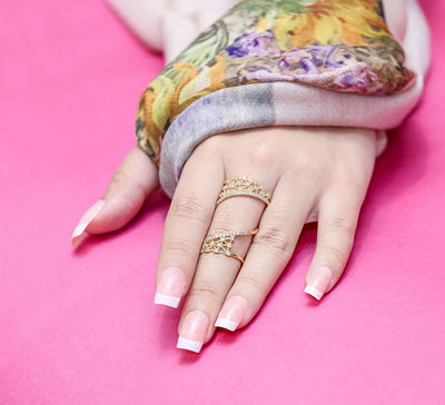 Knitted Pave Ring