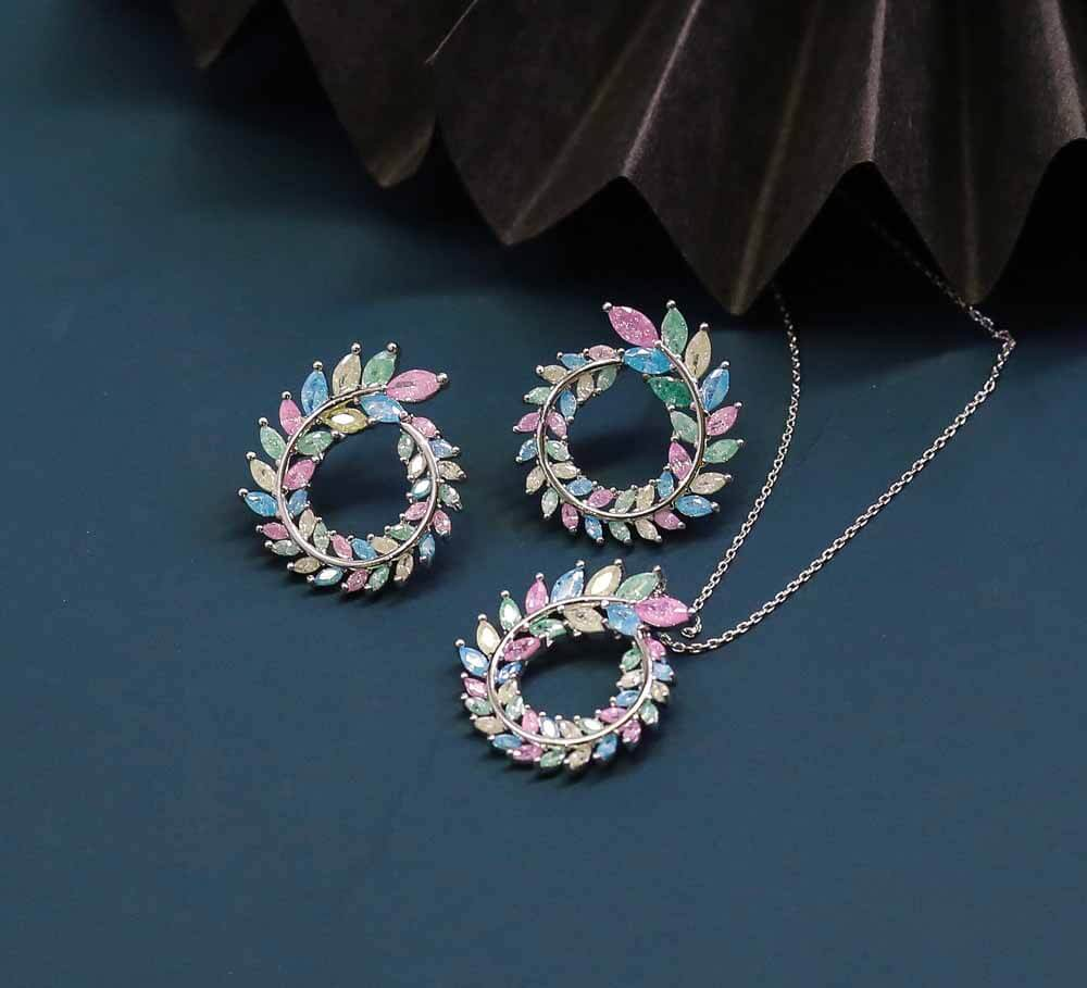 Buy Multicolour Women Pendant Sets Online In Pakistan