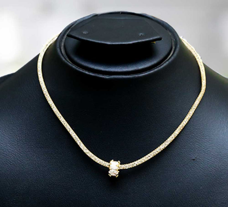 Paved Cubic Necklace