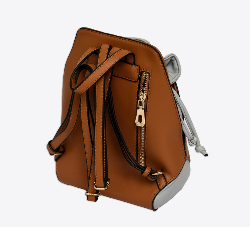 Flower BackPack - Brown