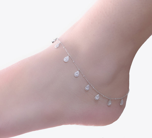 Intricate Anklet Sterling Silver - 27 cm