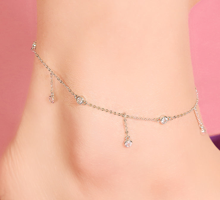 Dropping Chain Anklet - 27 cm