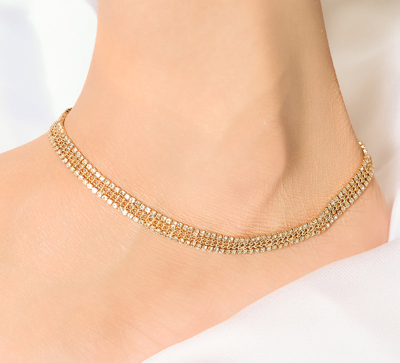 Knitted Anklet - 17.6 cm