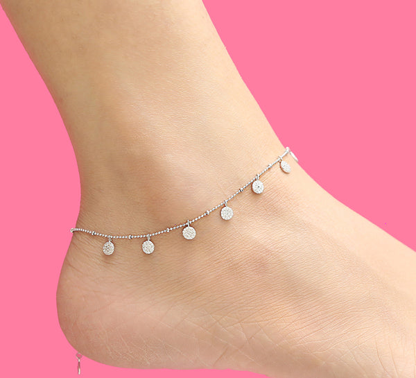 Repellent Peculiar Sterling Silver Anklet - 28 cm