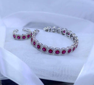 Buy Red Stones Women Bracelet Online in Pakistan