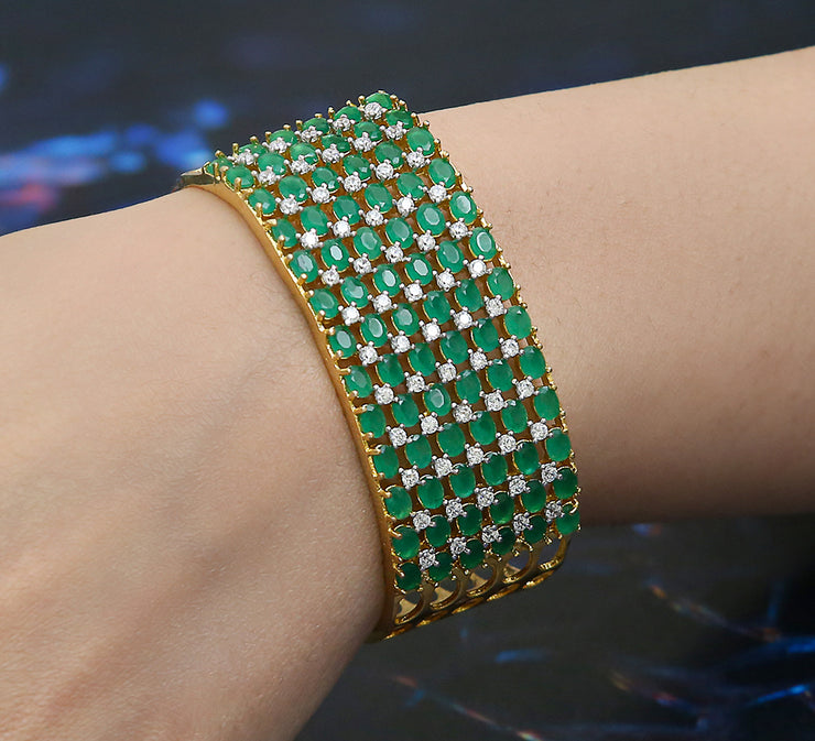 Emerald Stack Adjustable Bracelet