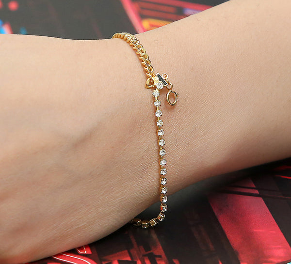 End Game Tennis & Soft Bracelet - Golden
