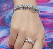 The Crown Bracelet with Ring