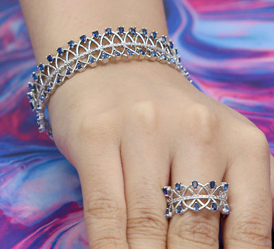 Royal Linking Adjustable Bracelet with Ring