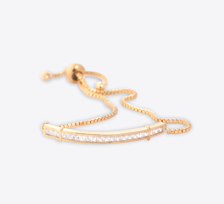 Golden Shiny Tennis & Soft Bracelet