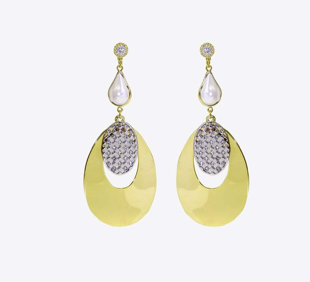Buy Golden Drop Earring Online in Pakistan