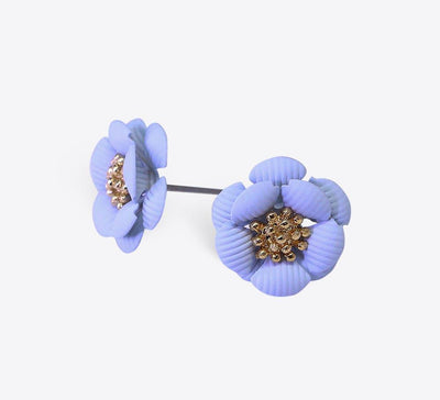 Sky blue Flower Earring Online in Pakistan