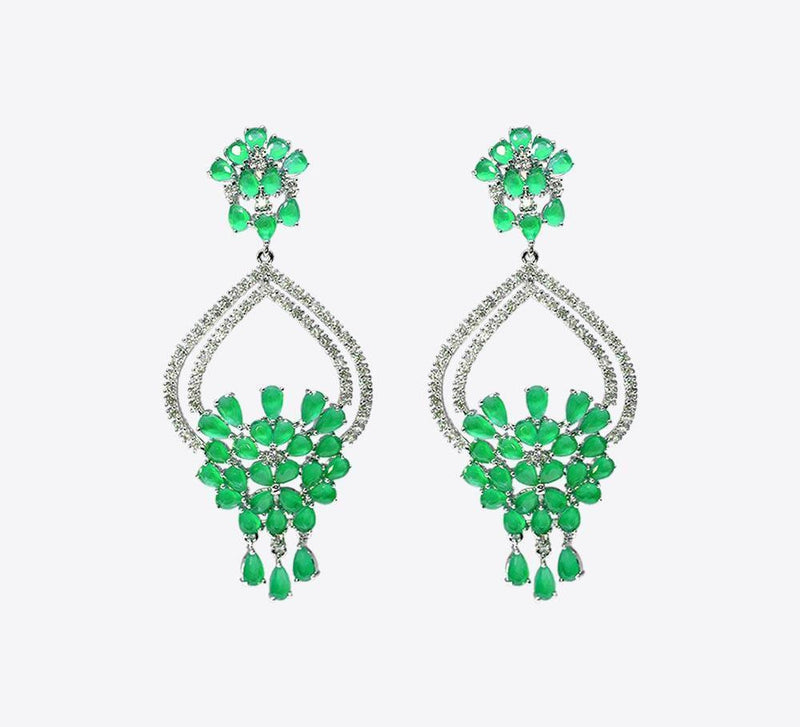 Para Keet Fall Hoop Drop Earring - ME-2159 - Mahroze