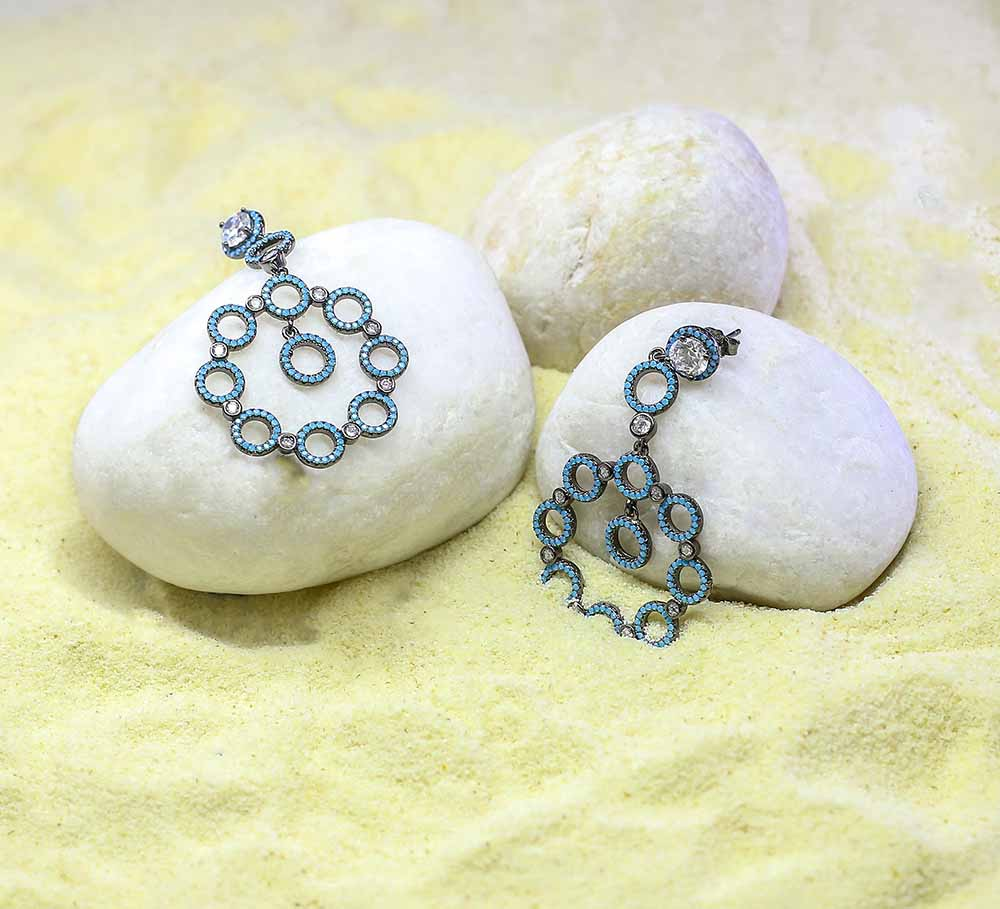 Buy Women Blue Earrings Online in Pakistan