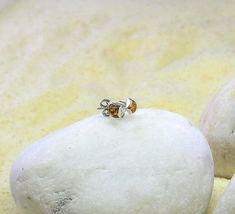 Buy Yellow Stone Sterling Silver Studs Online in Pakistan