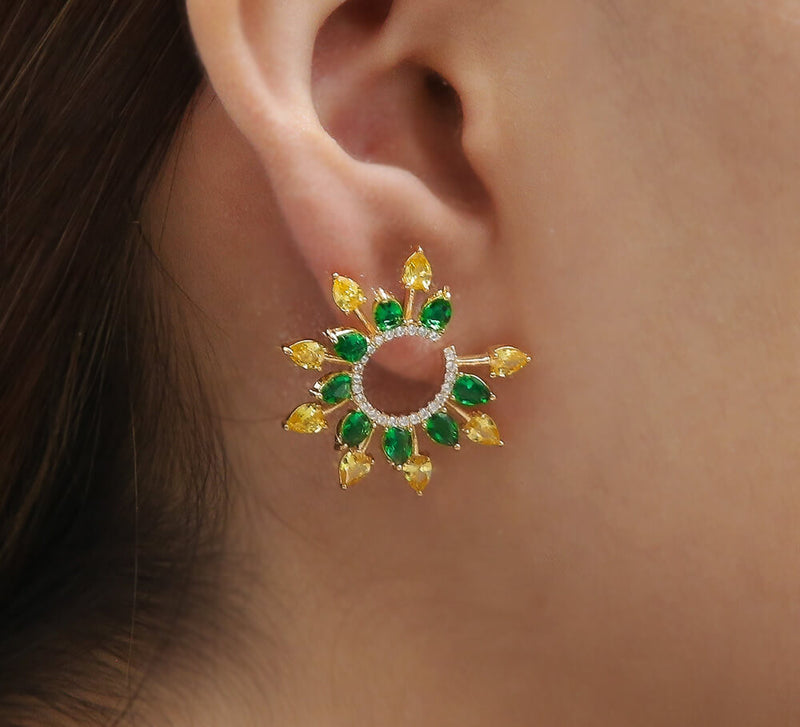 Buy Sun Rise Studs Online In Pakistan