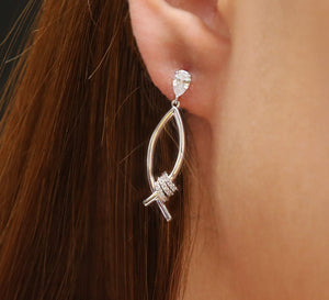 Buy Silver Drop Earrings Online In Pakistan