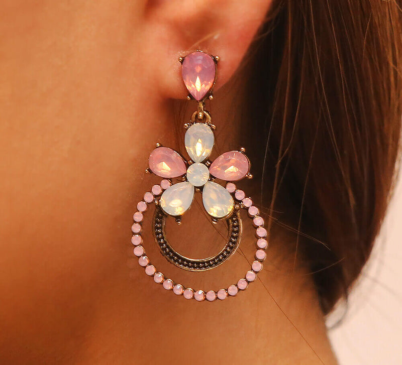 Pink Drop Earrings Online In Pakistan