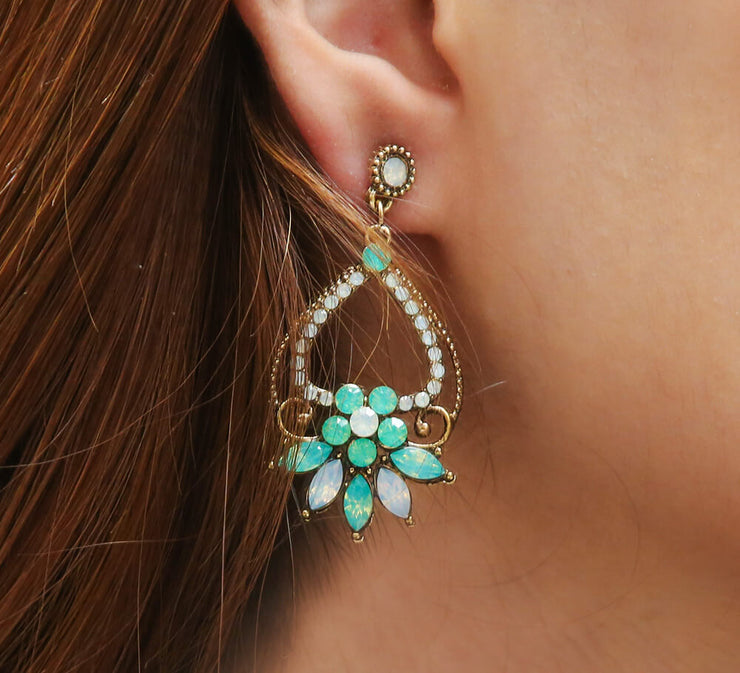 Buy Aqua Stones Earrings Online In Pakistan