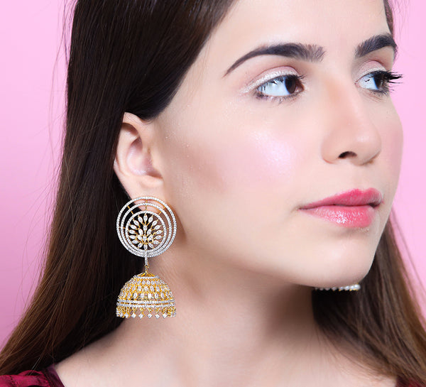 Outlined Drop Earring
