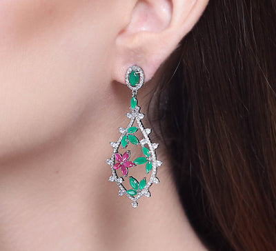 Floral Drops Earrings