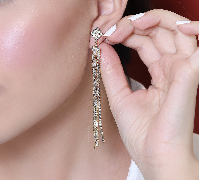 Fancy Tussle Drop Earrings