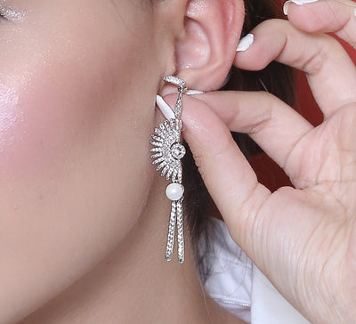 Ancient Shield Drop Earring