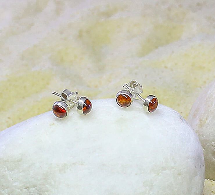 Buy Sterling Silver With Orange Stone Studs Online In Pakistan