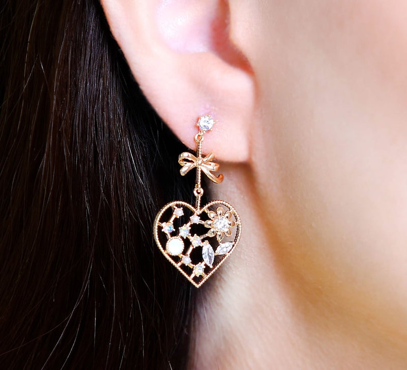 Loved Heart Drop Earring