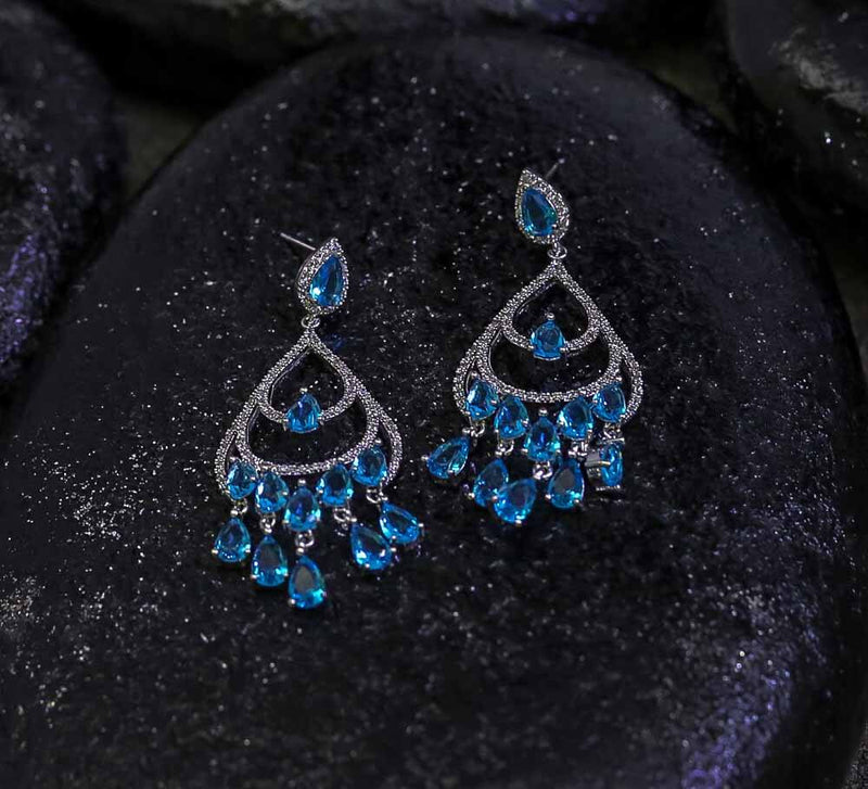 Buy Sky Blue Women Earrings Online in Pakistan