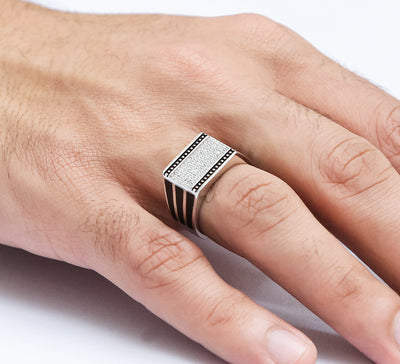 Cubic Sea Men Sterling Silver Ring