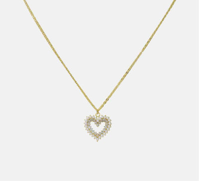 Buy Golden Heart with Pearl Online Pendants in Pakistan