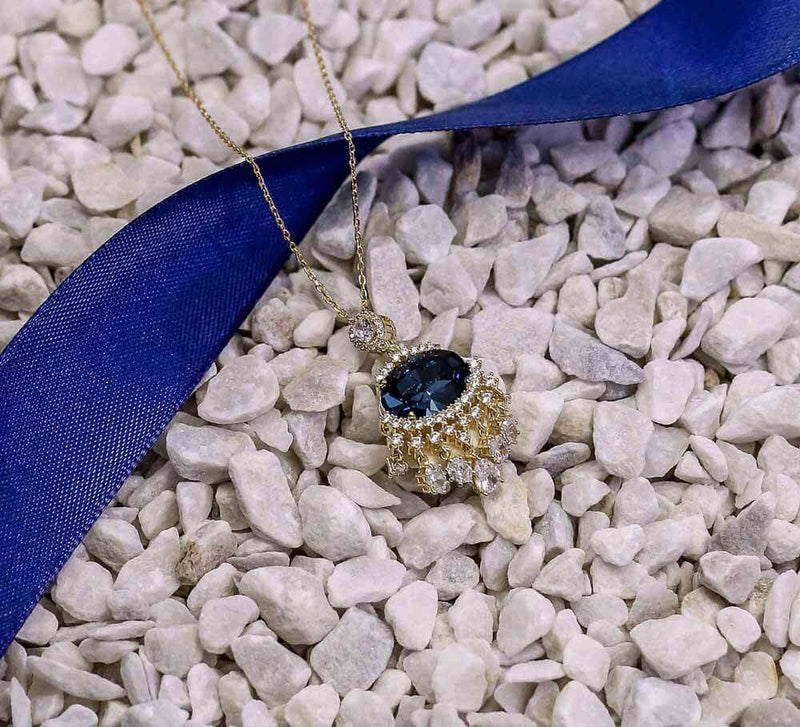 Buy Women Blue Stone Pendant Online In Pakistan
